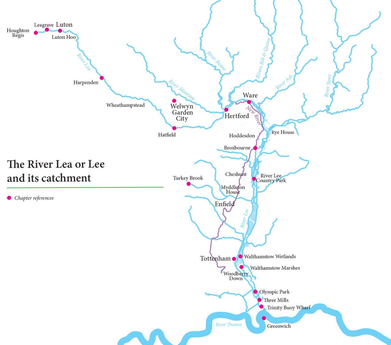 The River Lea or Lee and its catchment 2