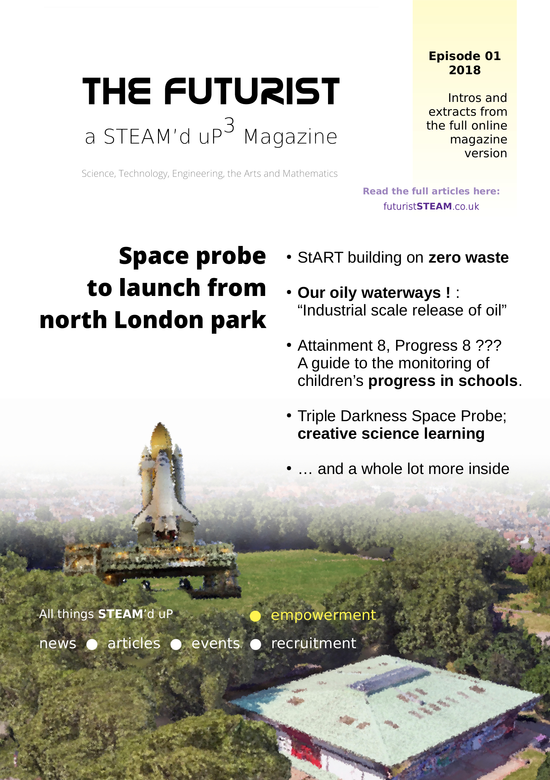The Futurist (Haringey) Magazine Cover                   https://fu-kiosk.futuriststeam.co.uk/